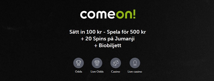 ComeOn bookmakerbonus + free spins